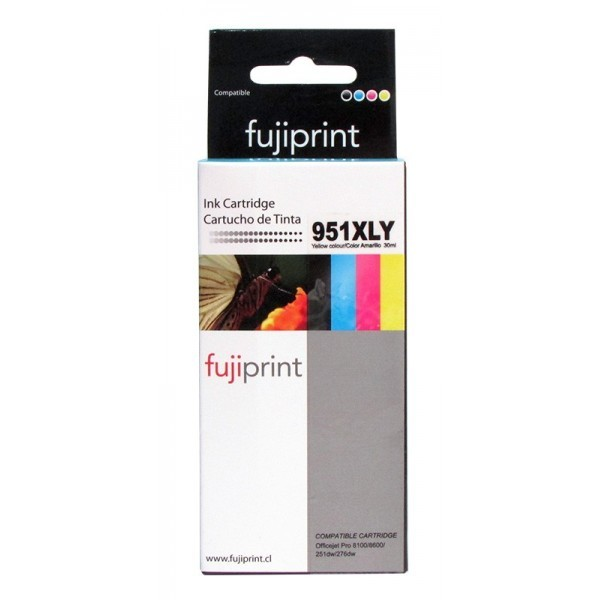 CARTUCHO FUJIPRINT PARA HP 951XLY YELLOW 30ML