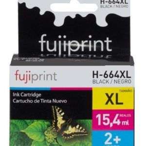 CARTUCHO FUJIPRINT PARA HP 664 NEGRO ORIGINAL 15.4ML XL