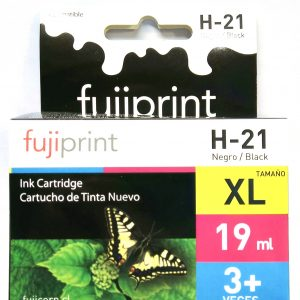 CARTUCHO FUJIPRINT HP 21XL NEGRO ALTERNATIVO HP 19ML.